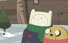 gif Christmas Adventure Time gifs tree cartoon network presents gifts finn and jake ice king skunk holly jolly secrets duogong