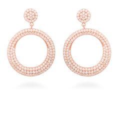 Dintel Earrings Silver, White Zircon #LuxenterJoyas  #LuxenterTimeToShine