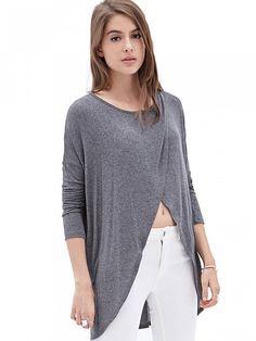 Grey Long Sleeve Knitwear