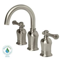 $137 Brushed Nickel S-Handle Widespread Faucet NR266-BN by Nerino ...