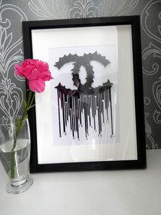 Your place to buy and sell all things handmade Chanel Pictures, Make Pictures, Wall Art Pictures, Paper Butterflies, Butterfly Wall Stickers, Beautiful Butterflies, Chanel Decor, Bottle Picture, White Box Frame