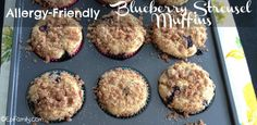 Allergy-Friendly Blueberry Streusel Muffins