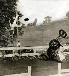 Wild Bill Cassidy flies from his car during a race at Washington, Pa July 20, 1939