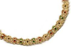 Free Beading Pattern - Easy Christmas Necklace by Sandra D. Halpenny @ Sova-Enterprises.com