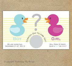 Love this scratch off gender reveal card