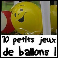Des jeux pour faire la fête avec des ballons de baudruche !