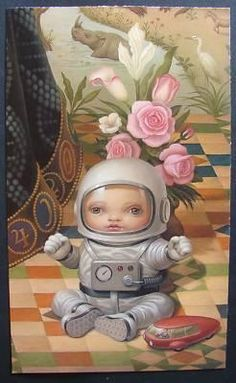 Art big head conceptual detail illustration mark ryden I love your Art Beat, Mark Ryden, Kitsch, Candy Art, Different Art Styles, Cute Monsters, Lowbrow Art, Nature Prints, Cultura Pop
