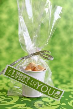 Sweet gifts for St. Patrick's Day.  Such a nice idea!