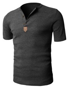 H2H Mens Short Sleeve Henley T-shirts with Waffle Knitted Fabric at Amazon Men's Clothing store: