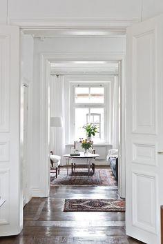 Custom Interior Doors, Interior Design, Small Apartment Living, Scandinavian Home, Apartment Interior, Living Room Inspiration, Luxury Living, Decoration, Furniture Design