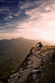 Mountain biking. Incredible