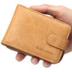 3e3a8fe71f62c Men s Wallet Genuine Leather Credit Card Holder RFID Blocking Zipper Thin  Pocket Card Holder
