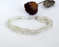 Original OOAK bracelet White Dew by OlgaMagicalThings on Etsy