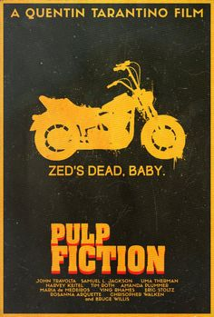 Pulp Fiction - movie poster - Edward Julian Moran II