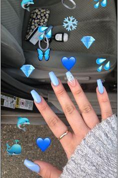 Pastel Nails, Cute Acrylic Nails, Gel Nails, Coffin Nails, Nail Art Designs, Acrylic Nail Designs, Bright Summer Nails, Spring Nails, Winter Nails