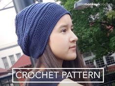 Slouch Hat Crochet Pattern: South Haven Slouch Crochet Pattern PDF | Slouchy Hat Crochet Pattern by Little Monkeys Crochet | Sport Weight