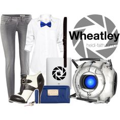 Wheatley (Portal) by heidifaith on Polyvore featuring polyvore moda style Talula H&M McQ by Alexander McQueen Floozie by Frost French Abercrombie & Fitch Episode wheatley portal 2