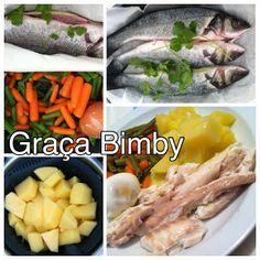 Bimby Truques & Dicas: Cozinhar em pirâmide 2 em 1 Robalos com legumes e ...