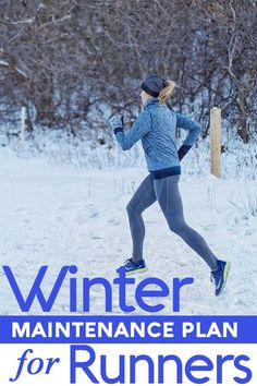 Winter running maintenance plan for runners! How to use this time to get ready for spring races Running Guide, Running Plan, Running For Beginners, How To Start Running, Running Workouts, Running Training, How To Run Faster, Trail Running, Race Training