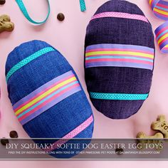 You can even burn off a few naughty treats with some pawesome playtime together with these squeaky stuffed Easter egg DIY dog toys. Homemade Dog Toys, Diy Dog Toys, Dog Toy Box, Egg Toys, Dog Crafts, Diy Stuffed Animals, Dalmatian, Softies, Dog Stuff