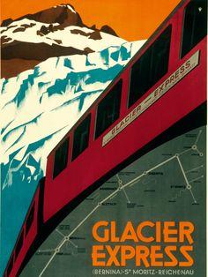 der langsamste Schnellzug der Welt.... der Glacier Express: www.schoene-aussichten.travel/bahnreisen/rhaetische-bahn/glacier-express.html (c) Graubünden Ferien