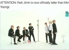But in a livestream they revealed that Jimin wears insoles to look taller than Yoongi.