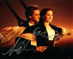 Titanic Autographed Signed 8 X 10 Reprint Photo by Leonardo DiCaprio & Kate Winslet - Mint Condition