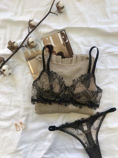 Jolie Lingerie, Lingerie Outfits, Pretty Lingerie, Luxury Lingerie, Black Lingerie, Beautiful Lingerie, Lingerie Sleepwear, Lingerie Set, Women Lingerie