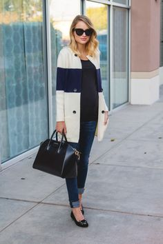 Little Blonde Book by Taylor Morgan   A Life and Style Blog : Color-block Cardi