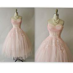 Vintage lace dress 50s prom