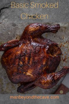 This recipe is about as easy as it gets. It's basically the smoked version of the standard roasted chicken. Grilled Chicken Recipes, Grilled Meat, Roasted Chicken, Grilling Recipes, Gourmet Recipes, Venison Recipes, Sausage Recipes, Meat Recipes, Gluten Free Puff Pastry