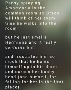 dramione-vincet-semper: Headcanon Harry Potter, Harry Potter Ships, Harry Potter Fandom, Harry Potter Memes, Harry Potter World, Harry Potter Hogwarts, Draco And Hermione, Draco Malfoy, Hermione Granger