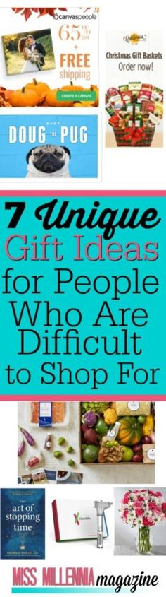 Holiday shopping is tons of fun, but it can be a pain when someone on your list is difficult to buy for. Check out our unique gift ideas for inspiration!