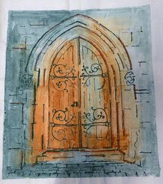 Freehand Machine Embroidery, Gcse Art, Gothic Architecture, Textile Artists, Portraits, Fabric Art, Painting & Drawing, Watercolor Art, Design Art