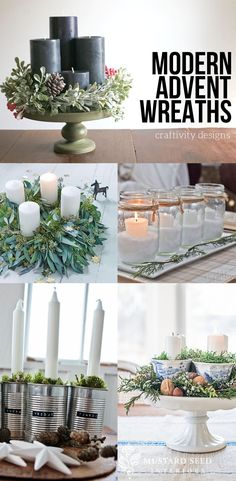 17 Modern Advent Wreath Ideas that are Beautiful and Meaningful!