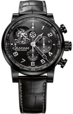 Graham Tourbillograph Mens Watch. Love this watch, all black with minimal non required details. crisp and to the point!