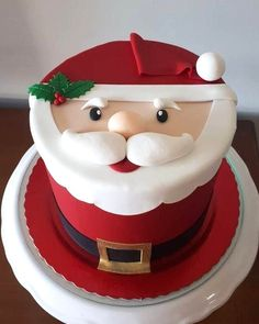 Chrismas Cake, Christmas Themed Cake, Christmas Cupcakes Decoration, Christmas Cake Designs, Christmas Deserts, Holiday Desserts, Christmas Baking, Xmas Food, Cake Decorating Techniques