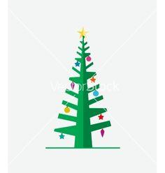 Christmas tree vector icon by odina222 on VectorStock®