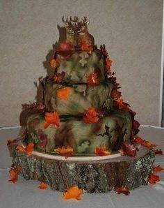 Camo Wedding Cakes Designs