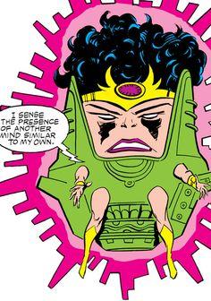 Kate Waynesboro of SHIELD (Hulk character) (Marvel Comics) as a MODOK-like creature. From http://www.writeups.org/kate-waynesboro-oldstrong-hulk-marvel-comics/
