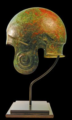 Greek Bronze Helmet: Chalcidian Type. Ancient arms and armor for sale on CuratorsEye.com