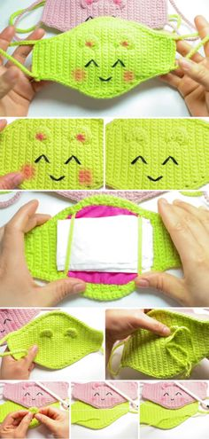 This is a tutorial for Crochet A Quick And Easy Face Mask. The face masks are very popular and needed today. This is a very beautiful and lovely crochet project Crochet Mask, Knit Or Crochet, Learn To Crochet, Free Crochet, Easy Knitting Projects, Easy Knitting Patterns, Crochet Projects, Crochet Patterns, Crochet Stitches