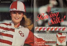 Christie Brinkley Covergirl Lipstick, Cover Girl Makeup, Makeup Ads, Christie Brinkley, Beauty Ad, Princess Caroline, Vintage Beauty, New Look, Sewing Patterns