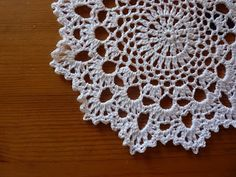 Doily pattern ~ She writes lovely patterns it's just so darned hard to follow them on the patterned background & a real PITA switching everything to white type. Grrrr