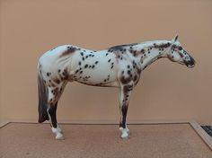 Leopard Appaloosa - Customizer Kathy McKenzie  Painter Kathy McKenzie - model horse