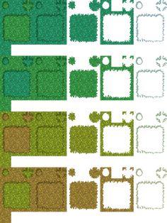 RPG Maker XP Auto-Tiles Sheet - Grass by spritemight on DeviantArt 1 Pixel, Pixel Art Games, Rpg Maker, Environmental Graphics, Map Design, November 2015, Sprites, Tile Art, Texture Art