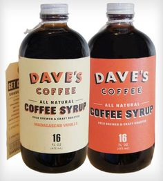 Cold Brew Coffee Syrup Combo - Vanilla & Original by Dave's Coffee on Scoutmob Shoppe