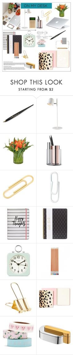 """on my desk"" by monika-85 on Polyvore featuring interior, interiors, interior design, dom, home decor, interior decorating, Dyson, Fountain, Kenroy Home i The French Bee"