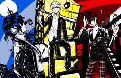 Persona 3 4 5 squad by Tofucakes
