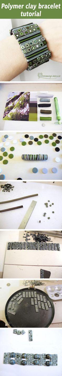 Polymer clay bracelet tutorial                                                                                                                                                      More